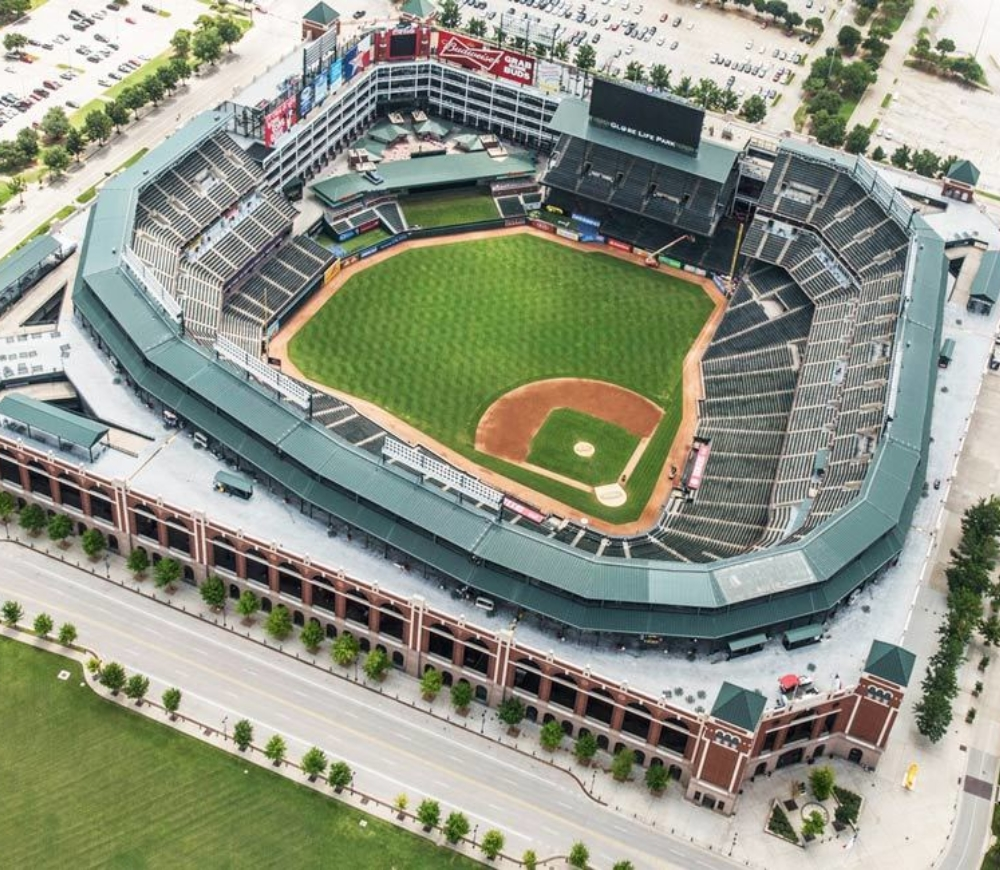 Helicopter ride to Globe Life Park