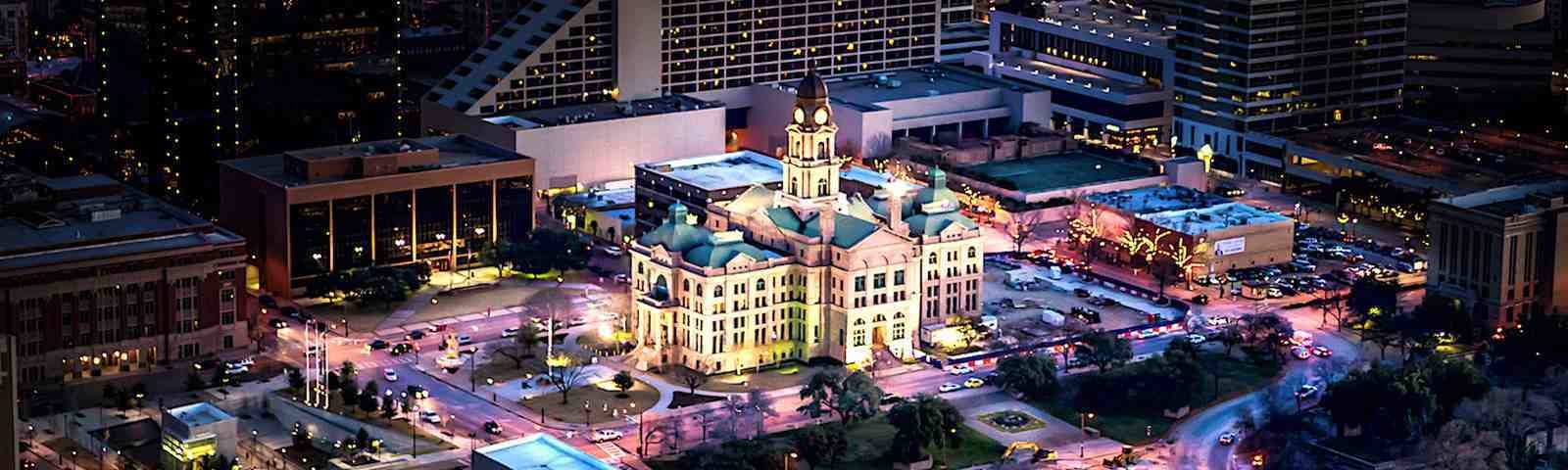Helicopter View of Downtown Fort Worth