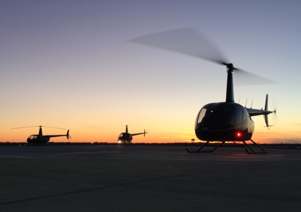 Helicopter charter for executives